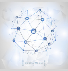 social media connection concept vector image vector image