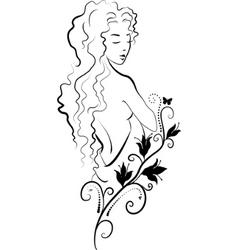 spa woman vector image vector image