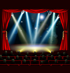 start of amazing entertainment event vector image vector image