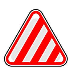stripes road sign barricade tape sticker vector image