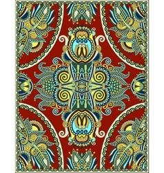 Ukrainian floral carpet design for print on canvas vector