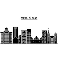 usa texas el paso architecture city vector image