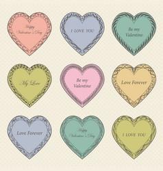 valentine s day vintage frames on background vector image