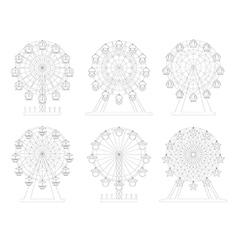 Wheel Amusement Park vector image