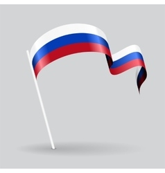 Russian wavy flag vector