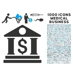Business center icon with 1000 medical business vector