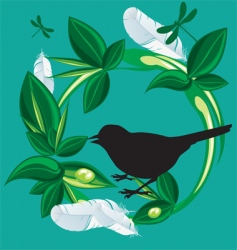 nature bird vector image