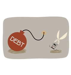 Debt cut vector
