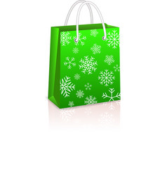 Christmas creen shopping bag vector