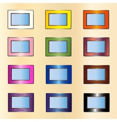 Many photo frames vector