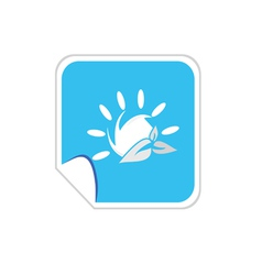 Sun icon blue vector