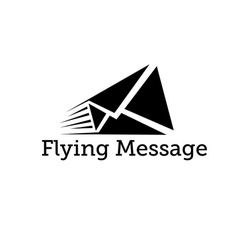 Flying message design template vector