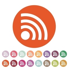 The wireless icon wifi symbol vector
