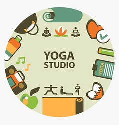 Yoga studio emblem vector