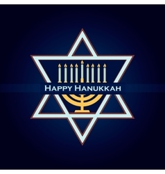 Hand sketched happy hanukkah logotype vector