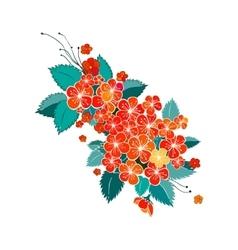 Blossom red flower vector