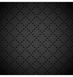 Black background with perforated pattern vector
