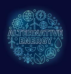 alternative energy blue vector image