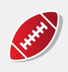 American simple football ball new year vector
