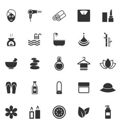 Beauty icons on white background vector