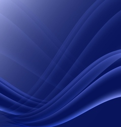 Black and blue waves modern futuristic abstract vector image vector image