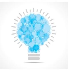 Blue light bulbs form a big bulb vector image vector image