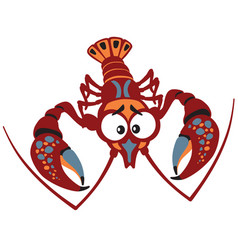 cartoon crayfish vector image