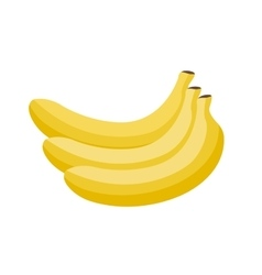 cartoon yellow bananas vector image