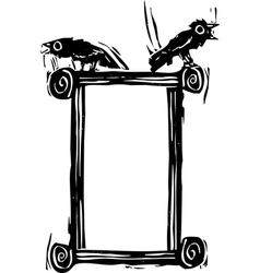 Crow Box vector image vector image