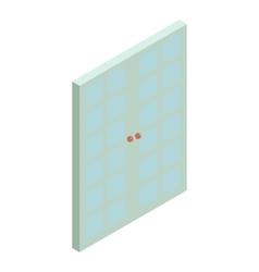 Double blue door icon cartoon style vector
