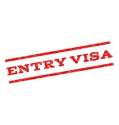Entry visa watermark stamp vector