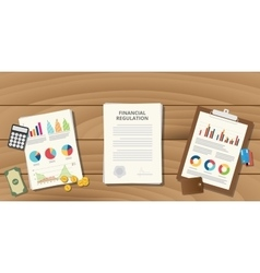 Financial regulation with paper work vector