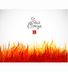 Fire grunge splash with place for your text on vector