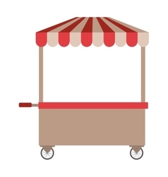 food cart icon vector image