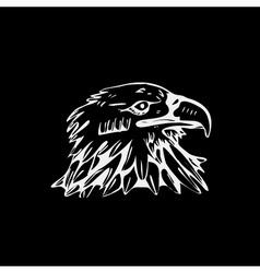 Hand-drawn pencil graphics bird eagle hawk kite vector image vector image