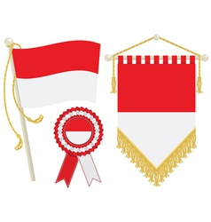 indonesia flags vector image vector image