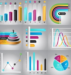 Infographics Design Templates set Charts diagrams vector image