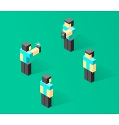 Isometric people 3d person vector image vector image