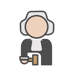 Judge avatar icon on white background vector