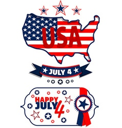 July 4 vector image vector image