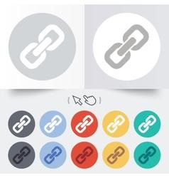 Link sign icon Hyperlink symbol vector image vector image