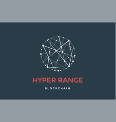 Logo for blockchain technology vector