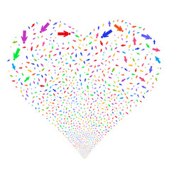Man person fireworks heart vector
