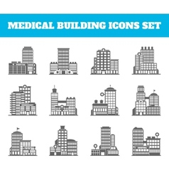 Medical building black vector