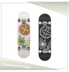 medical marijuana skateboard three vector image vector image