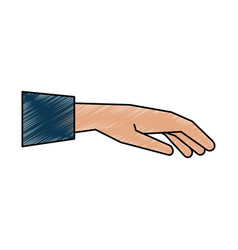 Open hand facing down sideview icon imag vector