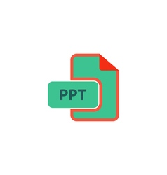 PPT Icon vector image