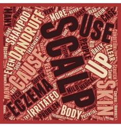 Scalp eczema 3 text background wordcloud concept vector