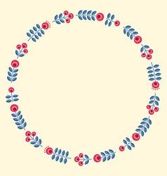 Scandinavian flowers - round floral frame vector