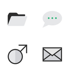 Set of simple design icons elements message bubble vector